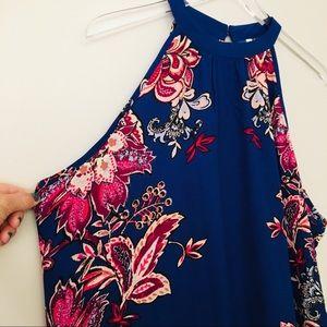 Xhilaration Blue Floral Maxi Dress XXL